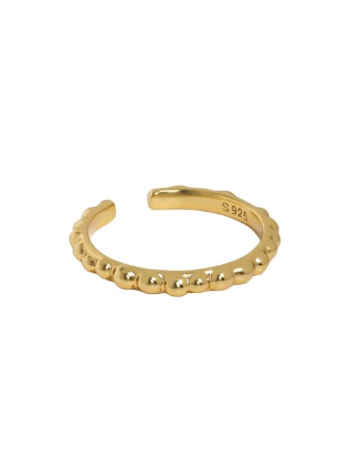 South  18K gold [Slightly darker] 925 Sterling Silver Irregular Minimalist Band Ring